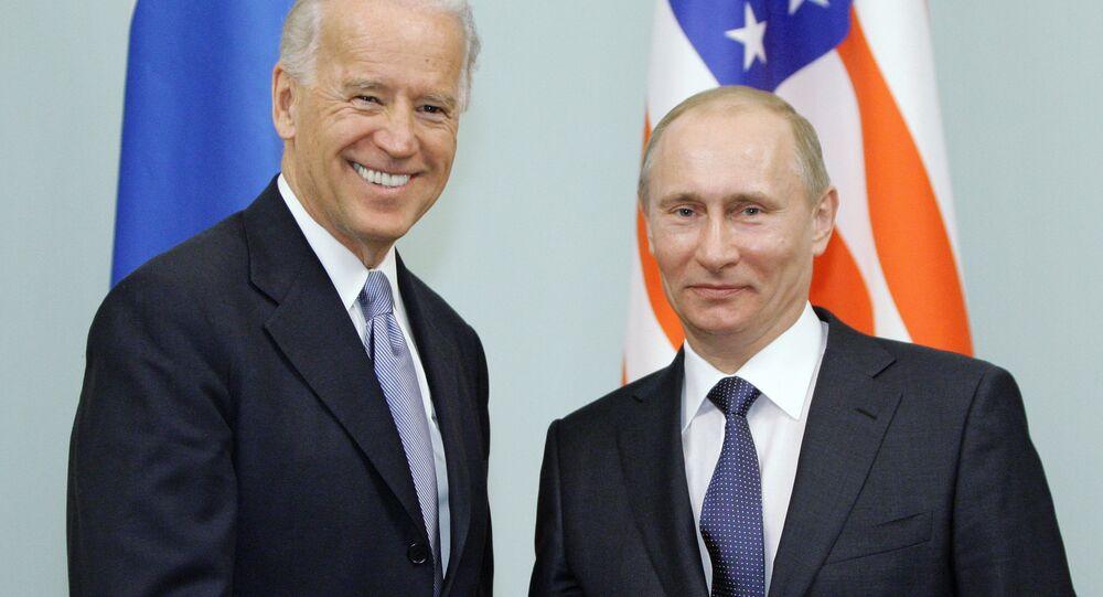US Vice President Joe Biden and Russian Prime Minister Vladimir Putin on 10 March 2011