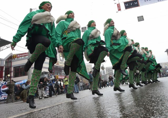 St. Patrick's Day Parade  in Moscow. Archive