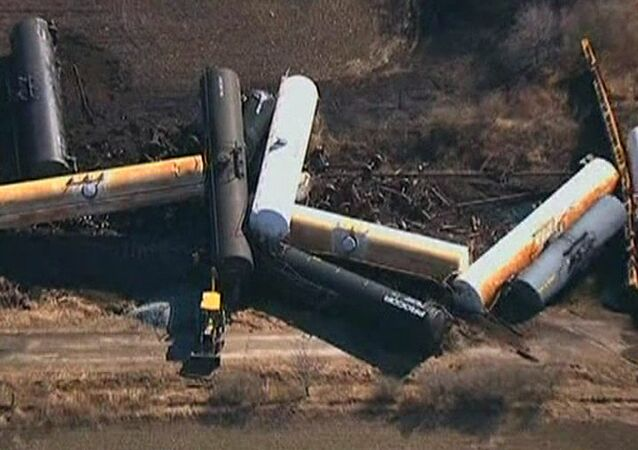 Freight train derails in Canada