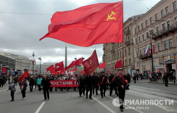 Thousands gather for May Day demonstrations across Russia - Sputnik International