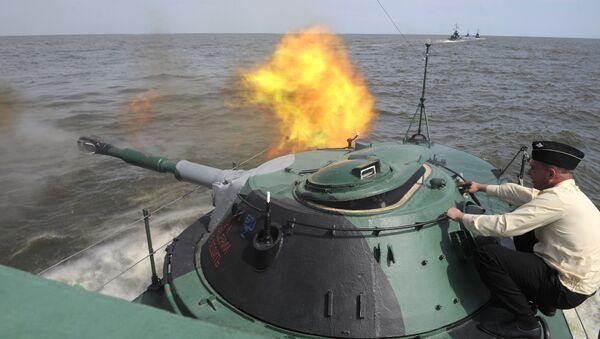 Exercise of Marine Corps battalion of Caspian Fleet - Sputnik International