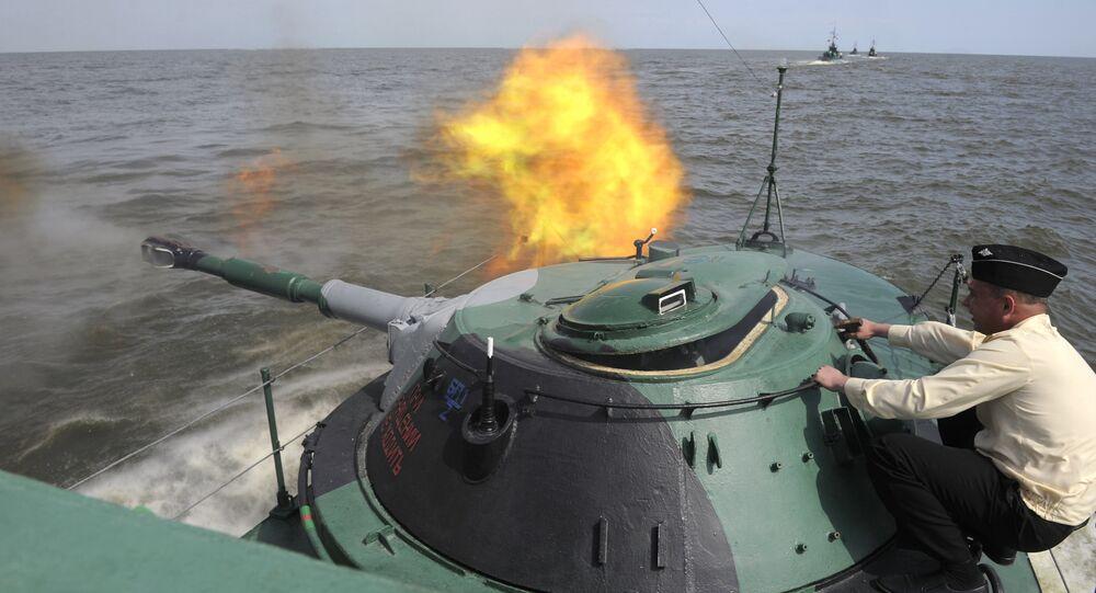 Exercise of Marine Corps battalion of Caspian Fleet