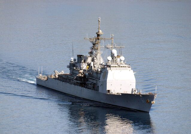 USS Monterey underway