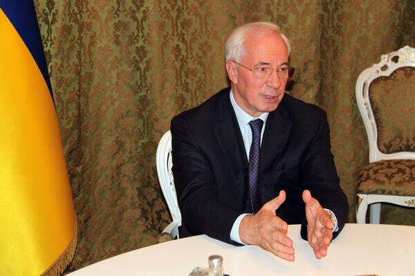 Ukrainian Prime Minister Mykola Azarov - Sputnik International