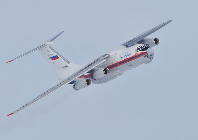 Russian Ministry of Emergency Situations Il-76 plane
