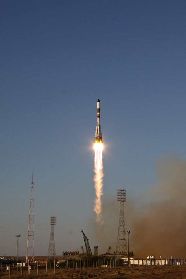 Soyuz spacecraft blasts off from Baikonur. Archive - Sputnik International