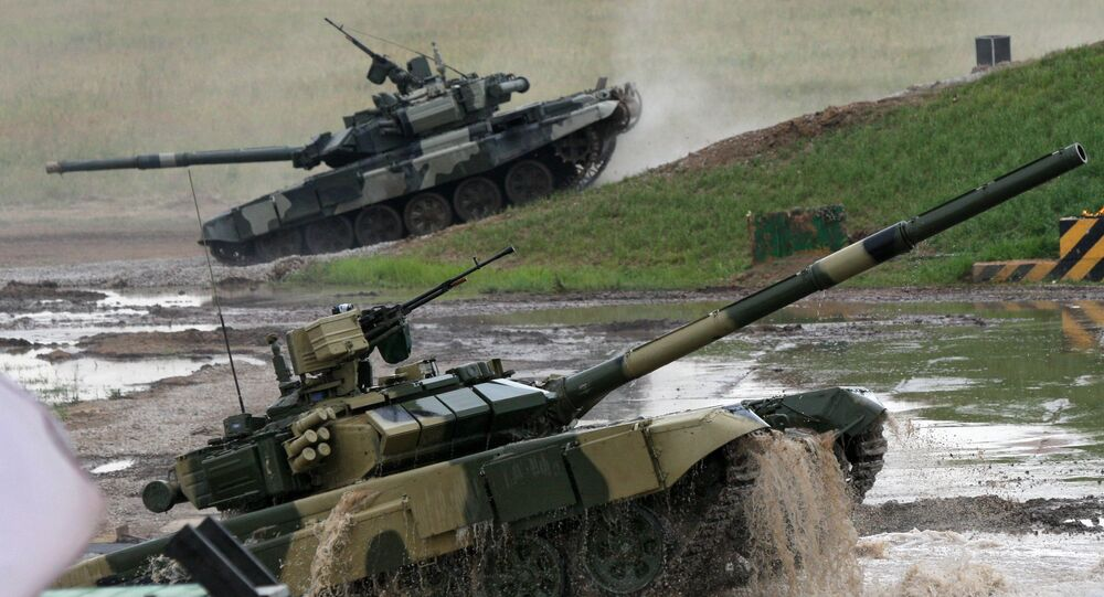 T-90 during a military exercise