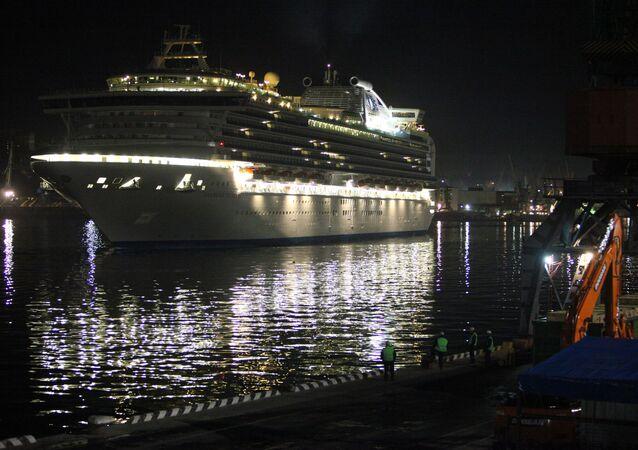 Diamond Princess arrives to Vladivostok
