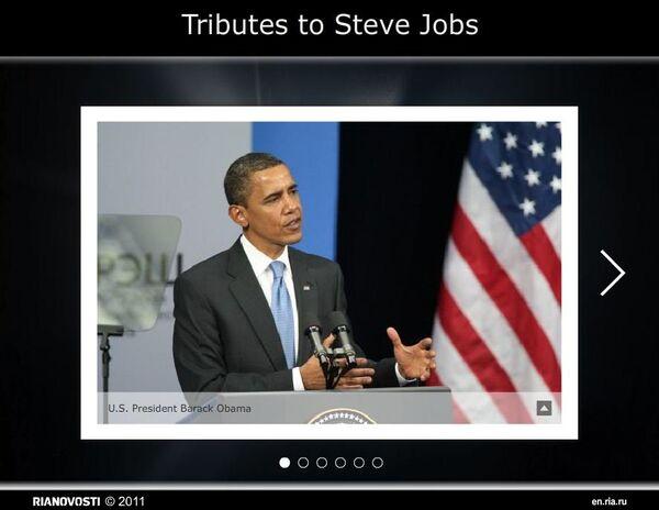 Tributes to Steve Jobs - Sputnik International