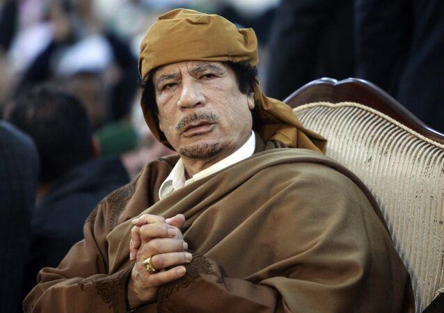 Former Libyan strongman Muammar Gaddafi