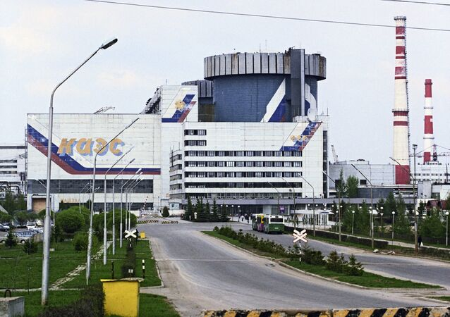 Kalininskaya Nuclear Power Plant. Photo taken on June 1, 2003