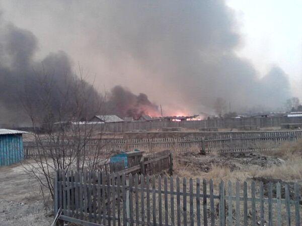 Wildfire in the village of Tygda, Amur region - Sputnik International