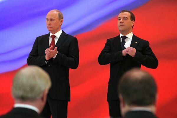 Putin, Medvedev Approval Ratings Rise Amid Protests          - Sputnik International