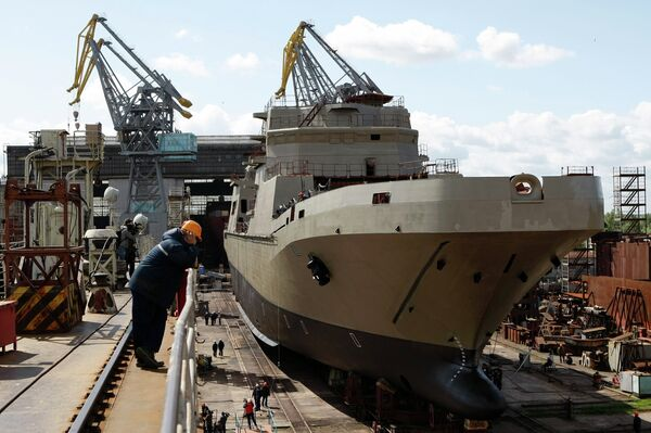 The construction of the Ivan Gren landing ship started in 2004, but has been delayed due to a lack of financing and skilled workers - Sputnik International