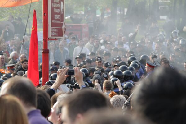The protest in the center of Moscow was held in support for those detained after anti-Kremlin rally in May 2012 (in the photo) - Sputnik International