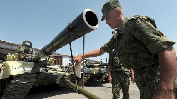 Russian forces on the territory of the 201st military base in Tajikistan. File photo - Sputnik International