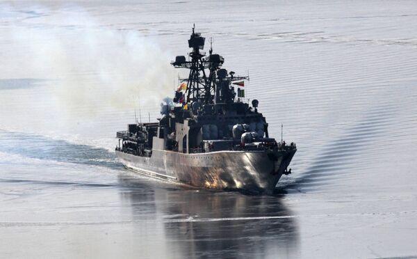 Admiral Panteleyev destroyer from Russia's Pacific Fleet (archive) - Sputnik International