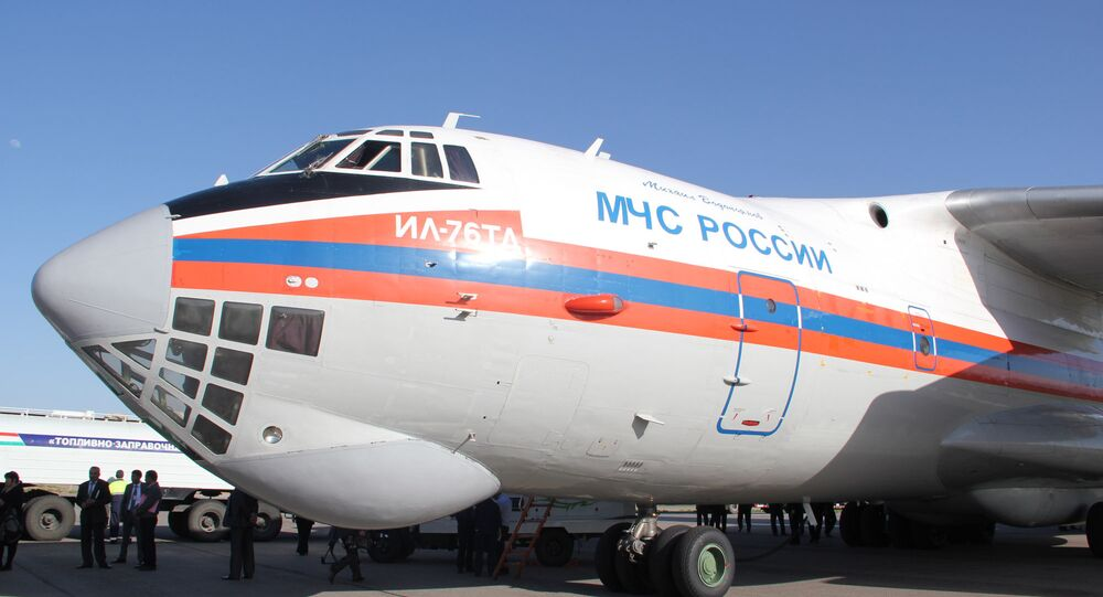 A Russian emergencies ministry's Il-76 plane