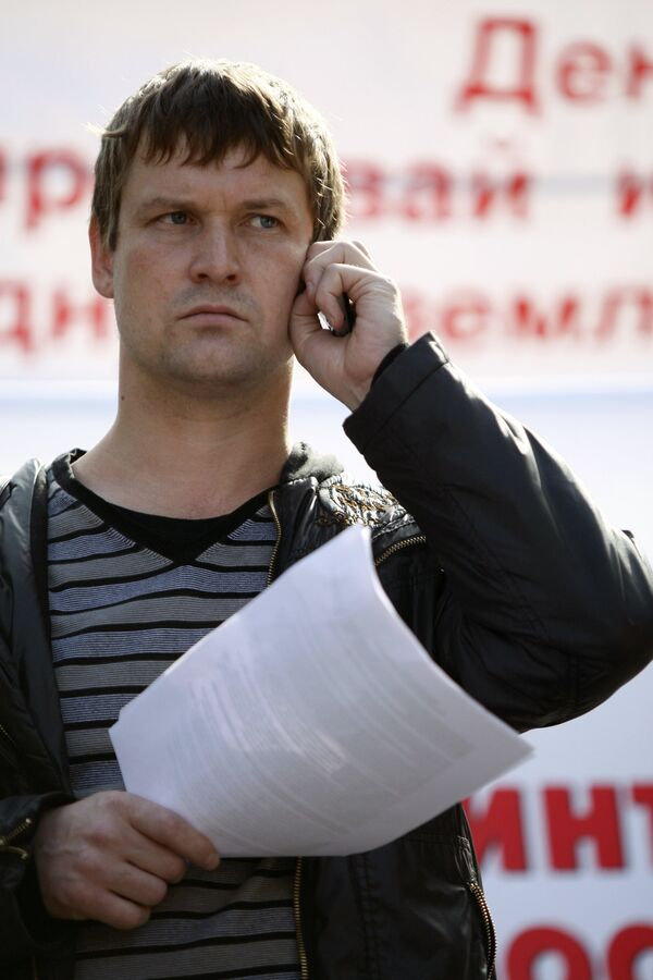 Left Front activist Leonid Razvozzhayev - Sputnik International