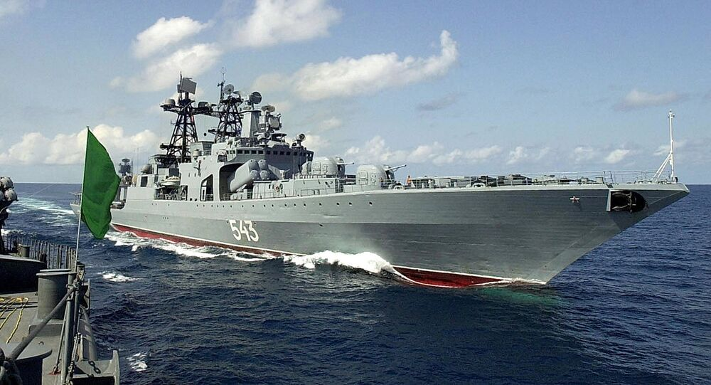 Russian destroyer Marshal Shaposhnikov