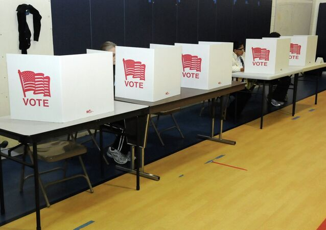 On Tuesday, US voters could cast a vote electronically or fill out a paper ballot.