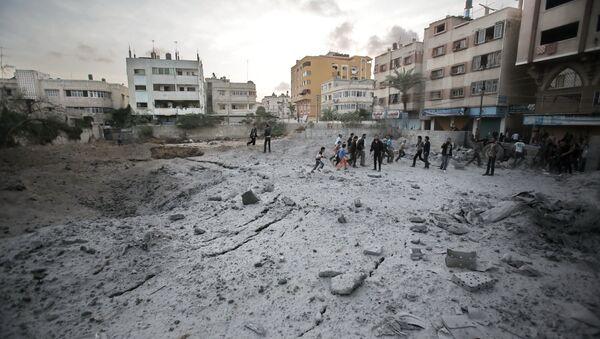 Israel Continues to Pound Gaza as Ceasefire Talks Drag On       - Sputnik International