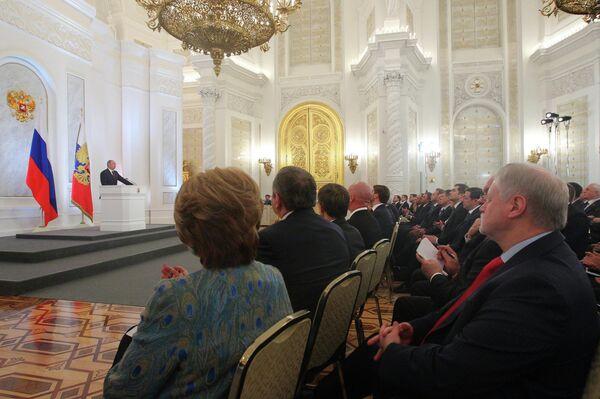 Putin Tackles Demographic 'Crisis' in Address     - Sputnik International