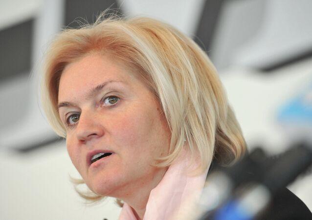 Russian Deputy Prime Minister Olga Golodets