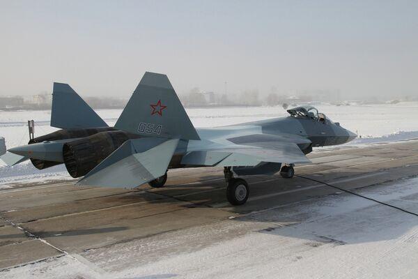Russian T-50 Fighter Jet. (Аrchive) - Sputnik International