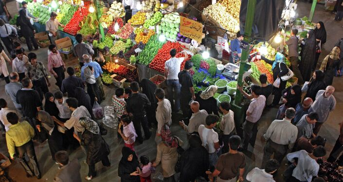 Iranians shop at Tajrish Bazaar in Tehran