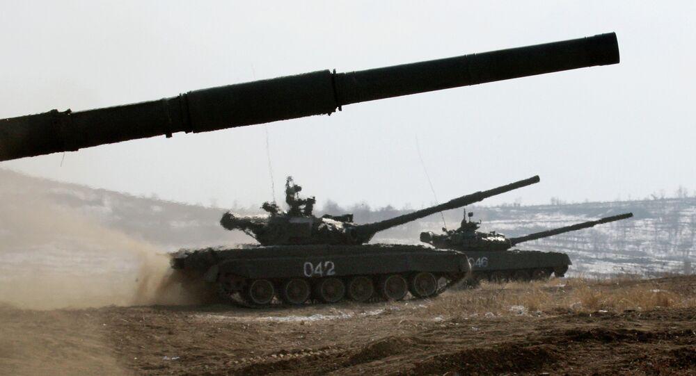 T-72 main battle tanks