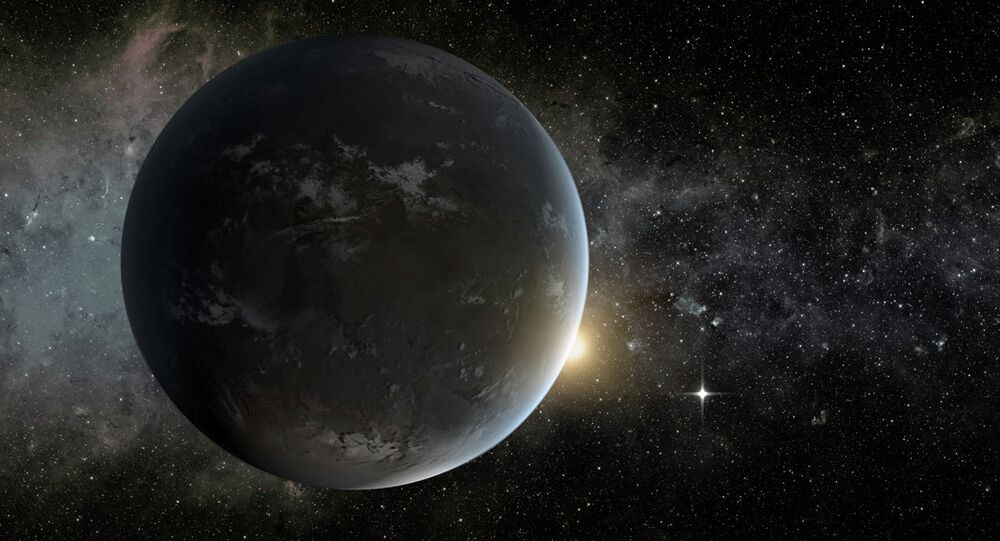 Artist's concept of one of two potentially habitable earthlike planets, Kepler-62f