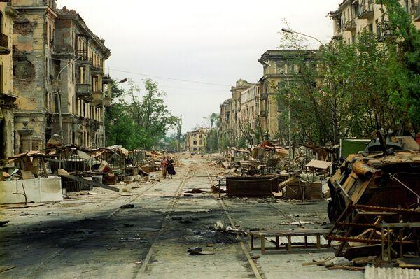 Grozny, the capital of Chechnya, in 1996 - Sputnik International