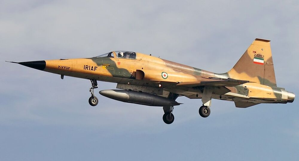 A Northrop F-5 fighter, this one operated by the Iranian Air Force.