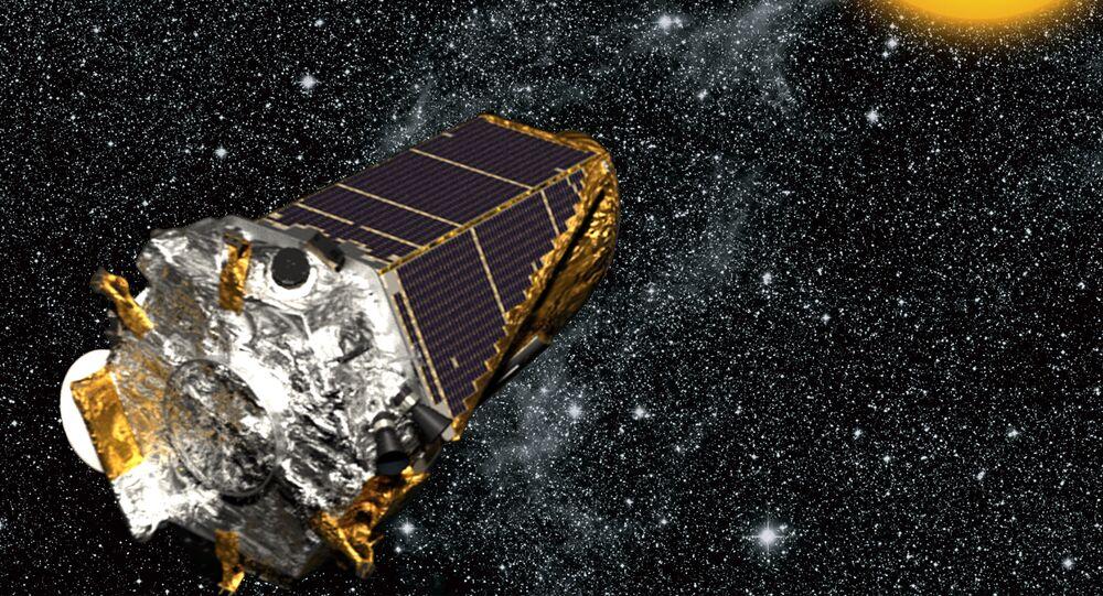 Artist's rendition of Kepler spacecraft.