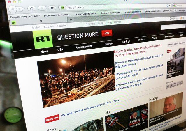 Сайт телеканала Russia Today
