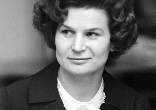Russian cosmonaut Valentina Tereshkova, the first woman in outer space