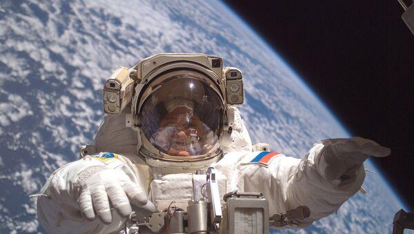 Cosmonaut Fyodor Yurchikhin participates in a session of extravehicular activity (File photo) - Sputnik International