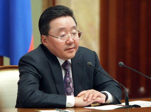 Президент Монголии Цахиагийн Элбэгдорж. Архив - Sputnik International