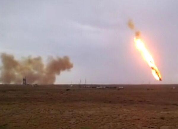 The Russian rocket is seen here falling from the sky. - Sputnik International