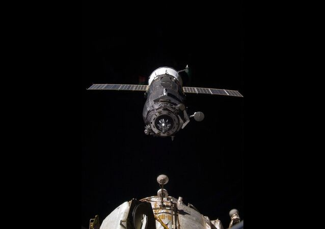 An unpiloted Progress resupply vehicle approaches the International Space Station (File photo)