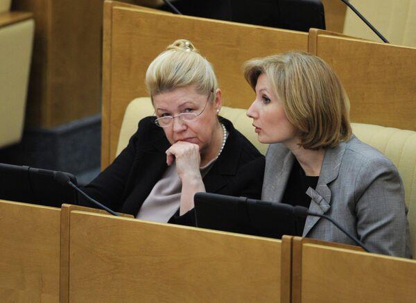 Yelena Mizulina and Olga Batalina - Sputnik International