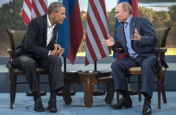 The last time Vladimir Putin and Barack Obama met was at the G8 summit in Northern Ireland in June.