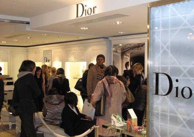 Бутик Dior в дни распродаж