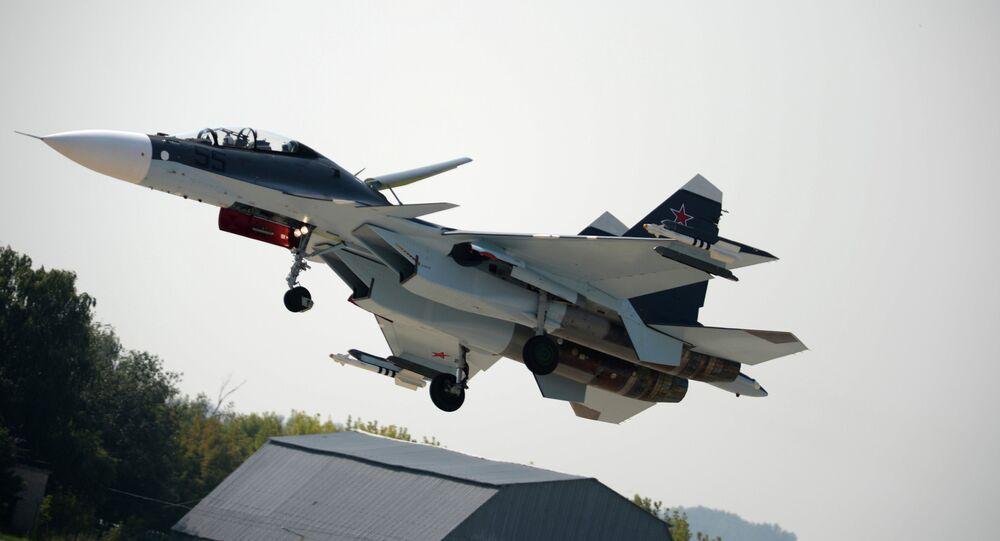Su-30SM is a supermaneuverable multirole fighter