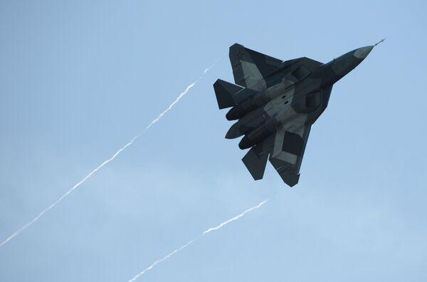 Russia will soon start developing a prototype of an advanced lightweight fighter jet to supplement T-50 aircraft (photo) - Sputnik International