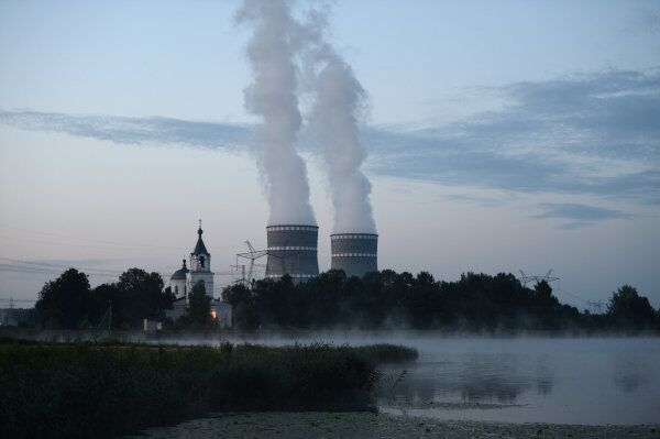 The Kalininskaya Nuclear Power Plant, located near the town of Udomlya in Russia