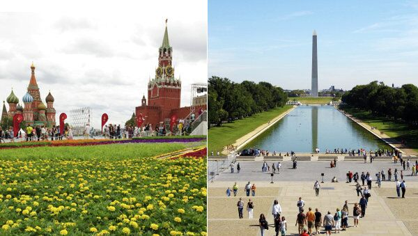Moscow and Washington - Sputnik International