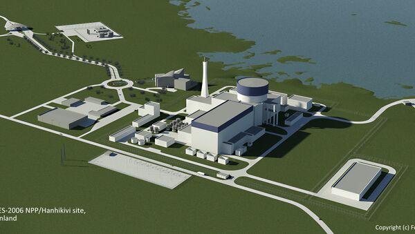 An artist's concept of a Russian Rosatom's AES-2006 nuclear power plant at Hanhikivi - Sputnik International
