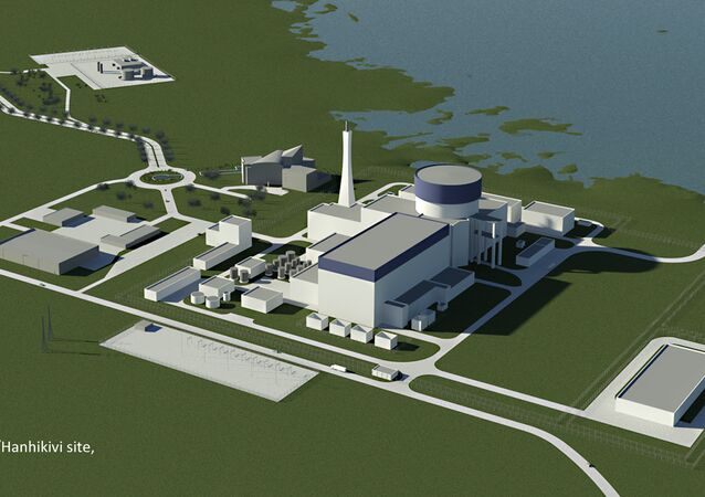 An artist's concept of a Russian Rosatom's AES-2006 nuclear power plant at Hanhikivi